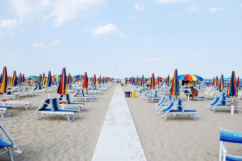 Rimini, la spiaggia