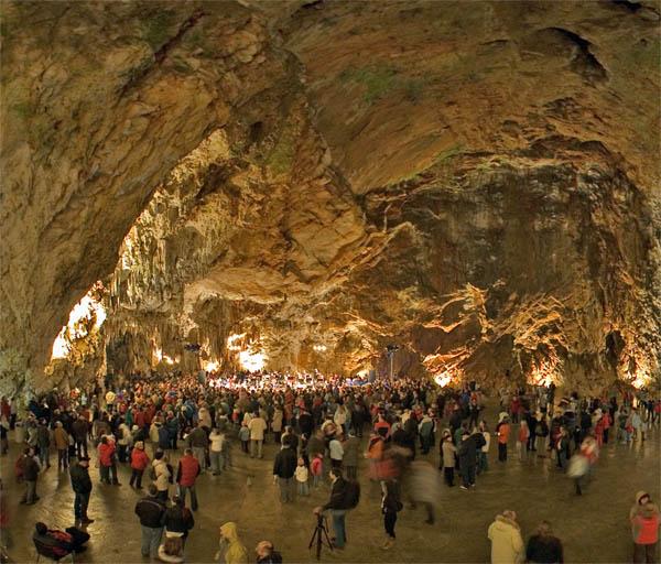 Grotta di Postumia - Sala da concerto